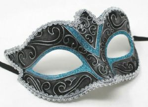 Turquoise Masquerade Mask - Crystal Detail Mask | Masks and Tiaras